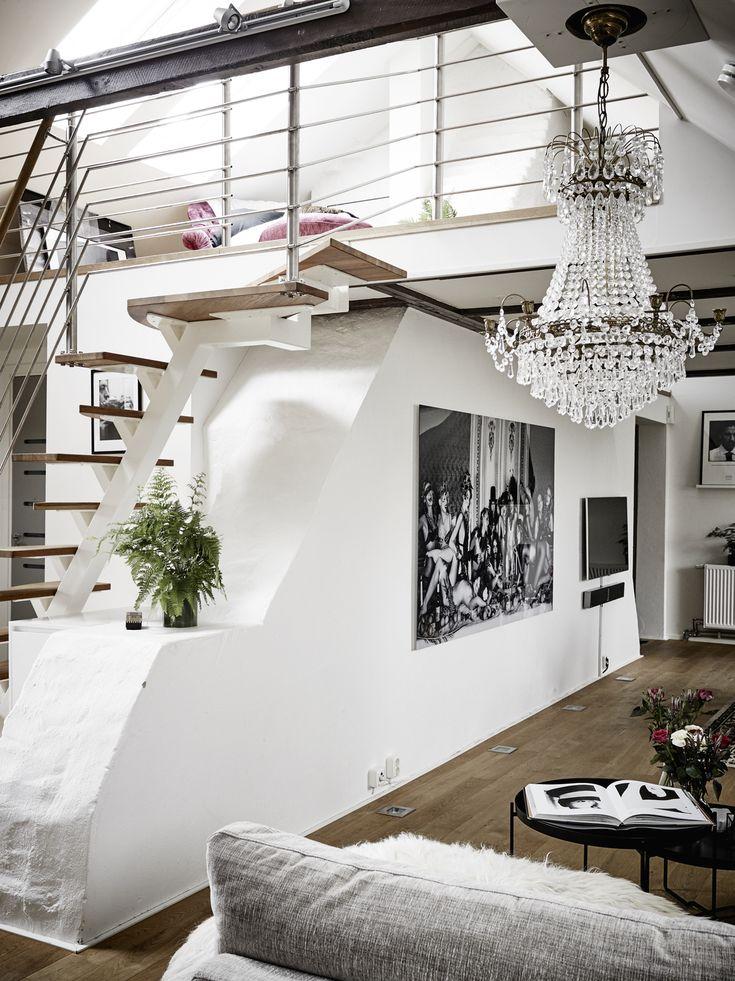 Loft De 91 M² într O Mansardă Din Suedia. Scandinavian Interior DesignHome  ...