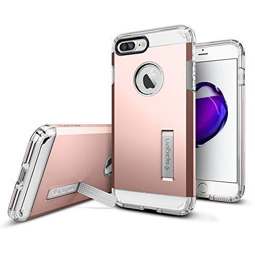 Spigen iPhone7 Plus ケース タフアーマー [ 米軍MIL規格取得 衝撃吸収パターン加工 ] アイフォン 7 プラス 用 耐衝撃カバー (iPhone7 Plus ローズゴールド)