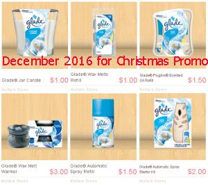 Glade coupons december 2016