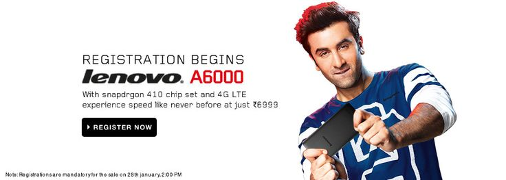 Lenovo A6000 Sale : The Redmi 1S killer is here and up for Registration– Shopinpedia.com