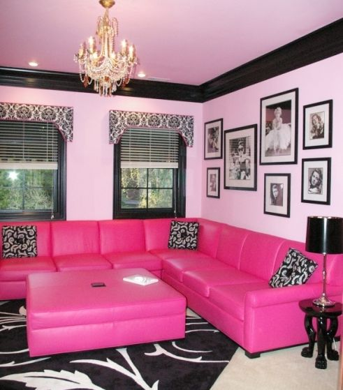 Love the baby pink and black.