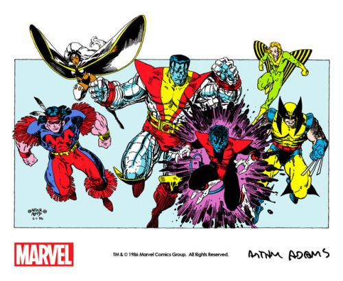"""themarvelproject:  """"The Uncanny X-Men by Art Adams from the frontispiece of Classic X-Men #2 (1986) remastered for The Marvel Project with digital colors by Dani Vázquez. Check out Dani's awesome Spaceship Rocket Tumblr!  """"  Thanks to The Marvel Project..."""