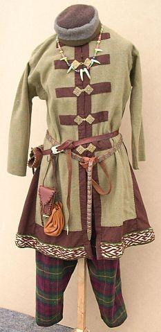 Russische Männerbekleidung um 9./10. Jhd.