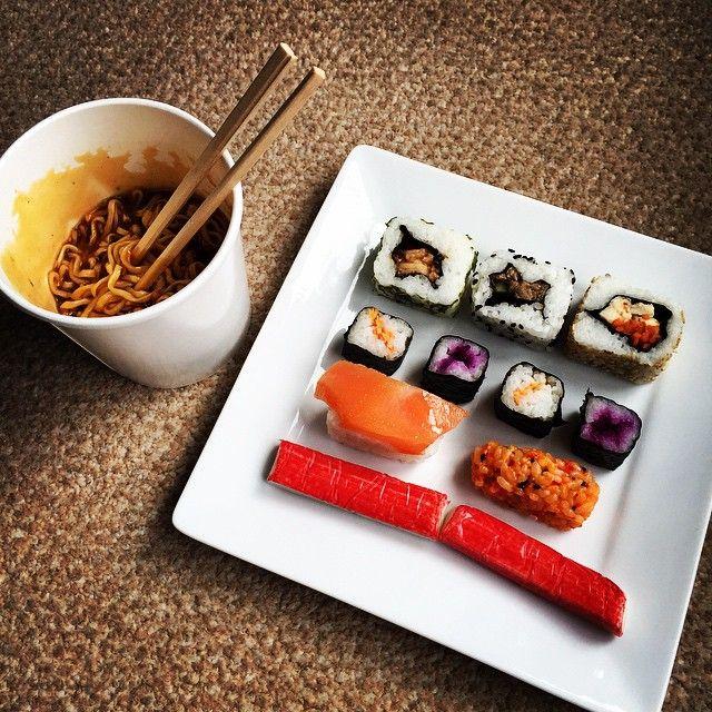 #lunch #sushi #ramen #yum
