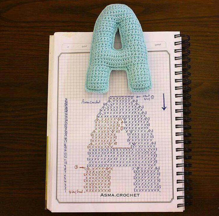 Crochet letter a