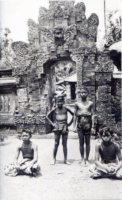 Balinese boys in Puputan Bali, Indonesia.