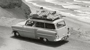 Opel - 1953 - Opel Olympia Rekord Caravan Heidelbergin yliopiston järjestämällä Etelä-Amerikan tutkimusmatkalla keväällä 1954.