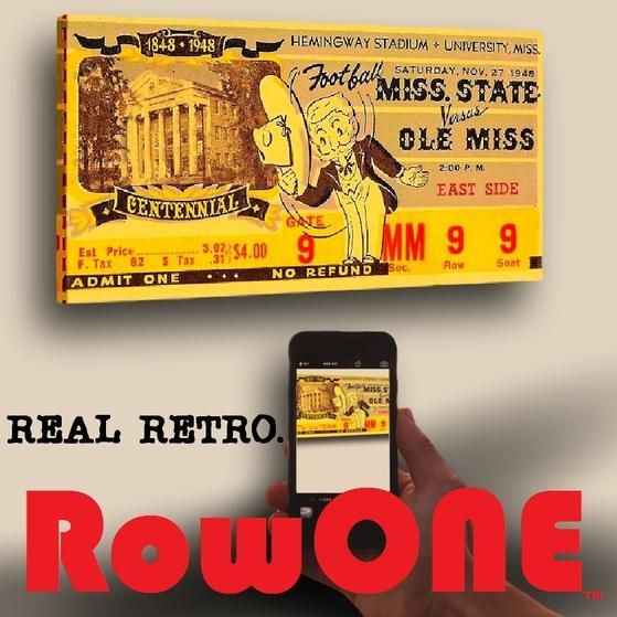 Row One Brand. Row One Retro Ticket Tees, canvas ticket art, and vintage ticket coasters made from over 3,000 historic game tickets.