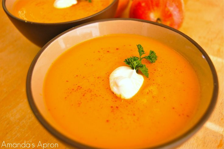 Guest Post: Carrot Apple Ginger Soup | Soup | Pinterest
