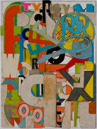 Lance Letscher collage - starter lesson with name initials in card relief? could look at Jasper Johns as well...