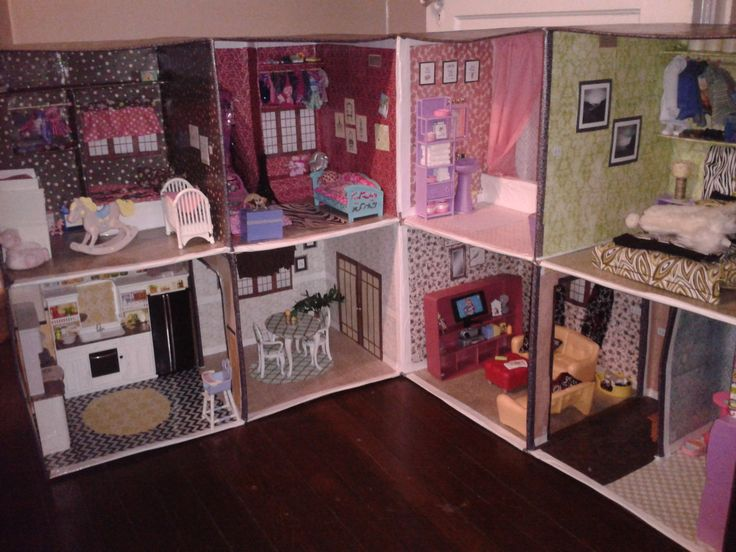 1000 Images About How To Make A Barbie House From