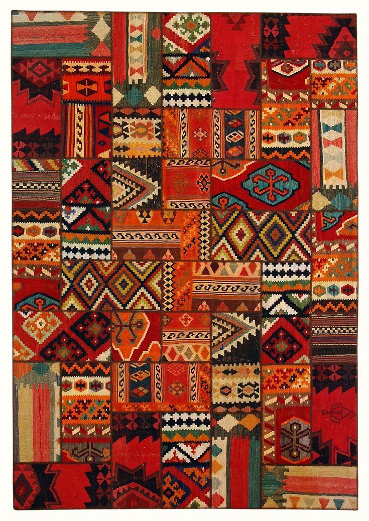 Persian Kilim Collage,NISHABURI