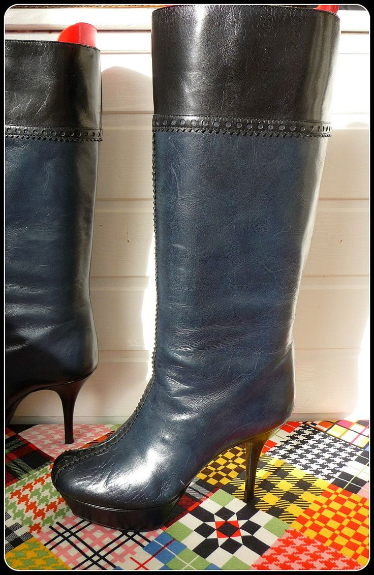 YSL YVES SAINT LAURENT Plateau Stiefel Leder 36 37 Tribtoo Stiletto Boots 3,5 6  in Kleidung & Accessoires, Damenschuhe, Stiefel & Stiefeletten | eBay!
