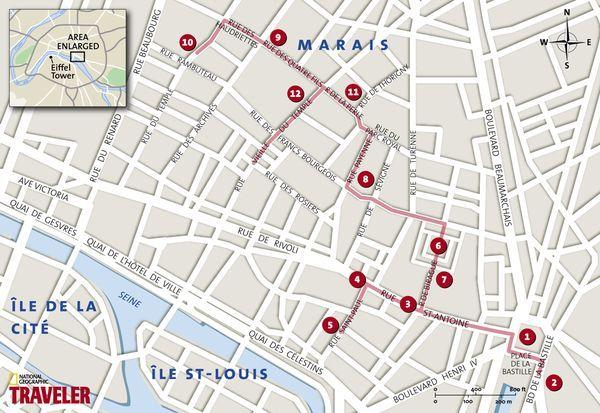 Walking tour of Le Marais in Paris