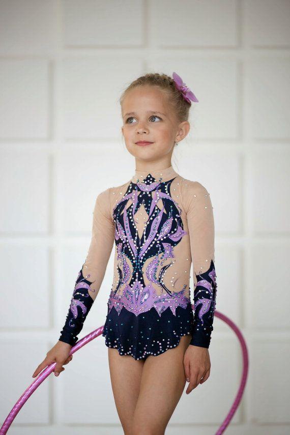 Rhythmic gymnastics leotard competition ice by artmaisternia