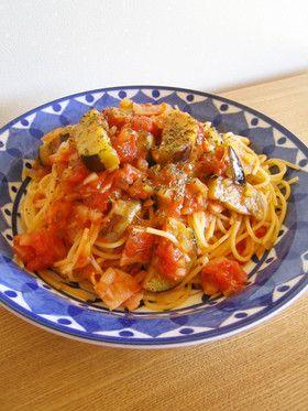 定番☆なすとベーコンのトマトパスタ by berry+ [クックパッド] 簡単おいしいみんなのレシピが272万品