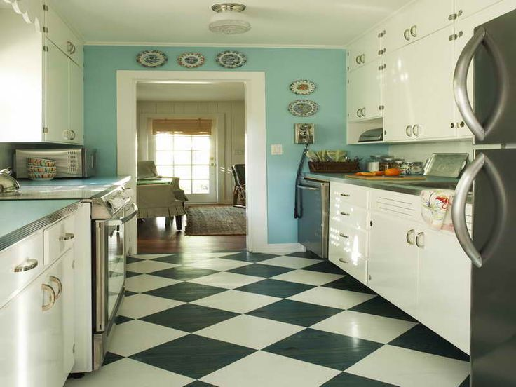 White Kitchen Floor Ideas Tile