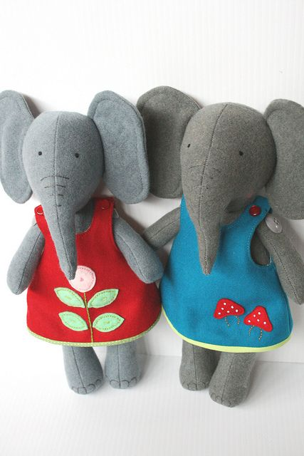 sweet felt elephants