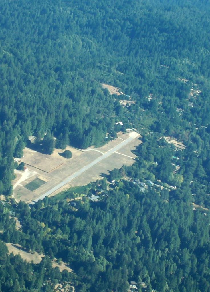 Ben Lomond airstrip in the Santa Cruz mountains, CA