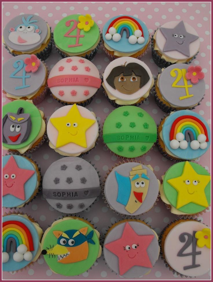 Best Dora The Explorer Cakes Images On Pinterest Dora The - Dora birthday cake toppers