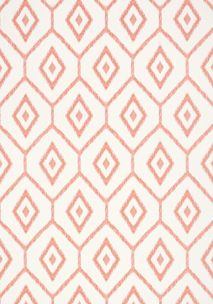Bari Ikat #wallpaper in #coral from the Caravan collection. #Thibaut