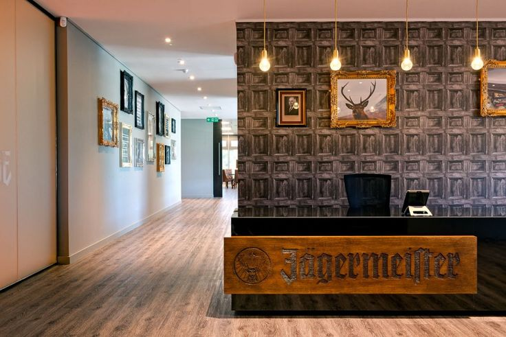 Mast-Jägermeister UK Ltd - Reception Design. #receptions #design #lightfittings #wood #rustic #interiordesign #rapportprojects #fitout #relocation #officemoves #designandbuild #projectmanagement #casestudy