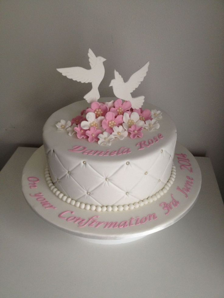 Dove Confirmation Cake
