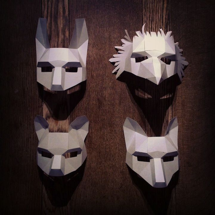 Amazing affordable paper masks by Steve Wintercroft - Oh! Boy!