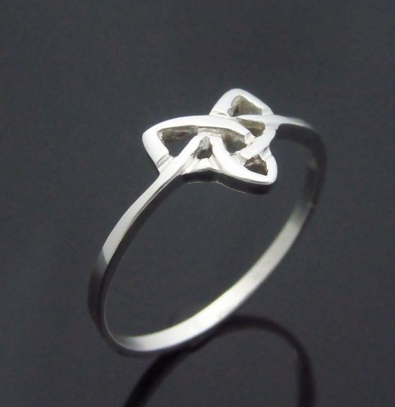 Check out this item in my Etsy shop https://www.etsy.com/ie/listing/242562942/trinity-knot-ring-silver-celtic-ring