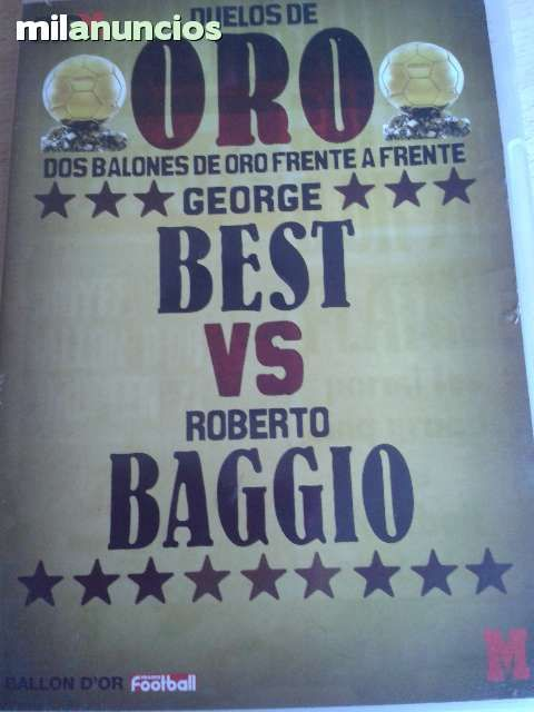 Vendo dvd de Marca. Best vs Baggio. Es del DVD 7 de la colección. Anuncio y más fotos aquí: http://www.milanuncios.com/peliculas-en-dvd/best-vs-baggio-137292160.htm
