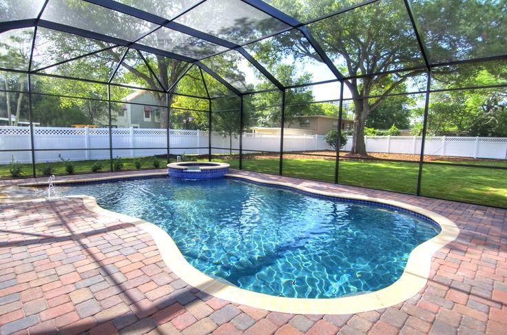 Large screened in pool