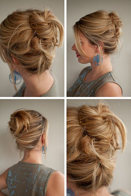 Twist upHairstyles, Messy Hair, French Twists, Work Hair, Long Hair, Messy Buns, Hair Style, Hair Looks, Hair Romances