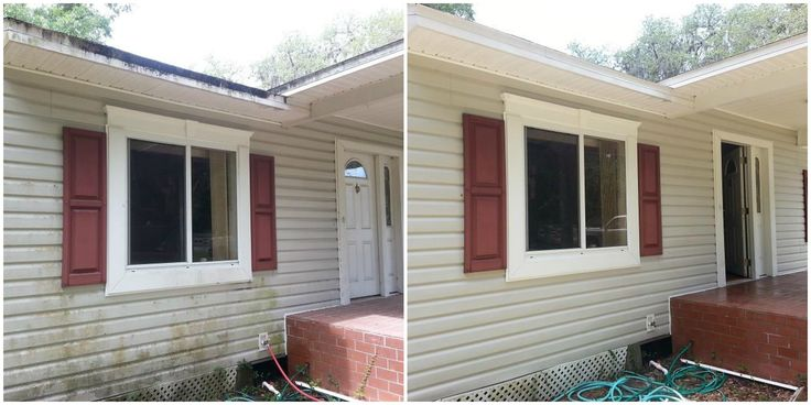 Your #fascia and #vinylsiding comes clean easily with the correct use of low pressure #pressurewashing with soaps and chems.  #powerwashing #powerwashingporn #pressurecleaning #pressurewashing