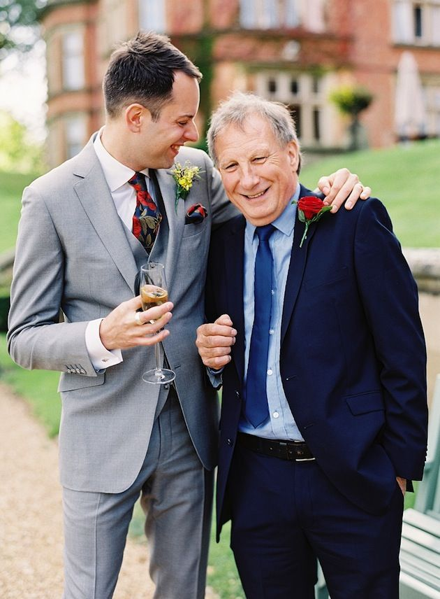 groom & father of the groom in grey and navy / Depict Photography