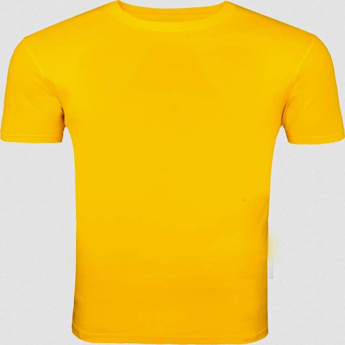 This yellow round necked, half-sleeved plain T-shirt gives a casual fit to you for all seasons. Wear this super-comfortable cotton T-shirt with denims and trousers or for a workout or even under a casual jacket.