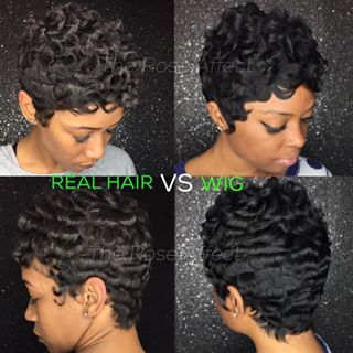 Real hair vs. wig!! Hair unlimited!!! (Wig is an in house service only). This The Rose Affect. Get Pricked by A Rose. Have you booked yet?? TEXT 4044513324. Deposit is a must. C u soon!! #wig #bigchop #weavemaster #thejspot #installsatl #prettyhair #photooftheday #atlhair #atlshorthair #shorthair #shortcuts #dopehair #hair #hairatl #hairporn #hairstyle #besthair #bestoftheday #bestofthebest #protectivestyles #prickedbyarose #theroseaffect
