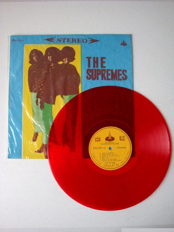 The Supremes Greatest Hits | Collectible Vintage Colored Vinyl Record From Taiwan | Rare Chung Sheng Red Vinyl Recording of The Supremes VG