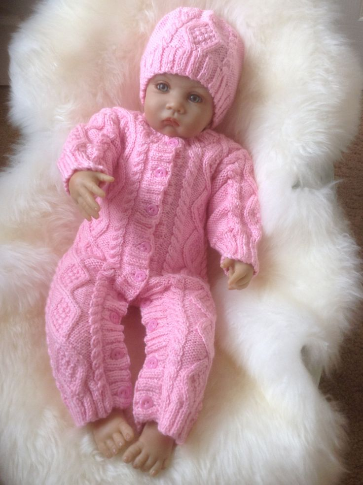 A personal favourite from my Etsy shop https://www.etsy.com/uk/listing/246899474/irish-knit-snowsuit-in-pink-with