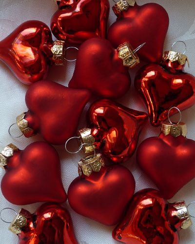 red <3 ornaments