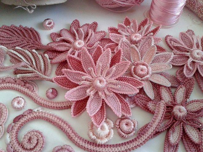 irish crochet flowers