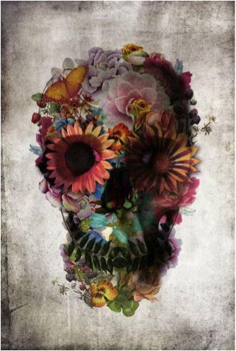 im usually not a big fan of skull tattoos but this is beautiful. it'd look great on a upper thigh