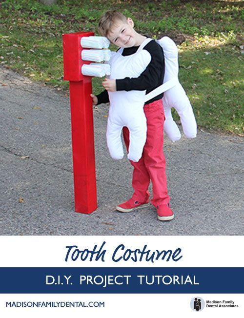 Tooth Costume for Kids - Step by step tutorial