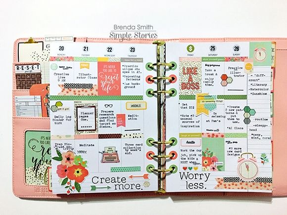 Carpe Diem The Reset Girl Planner by design team member Brenda Smith