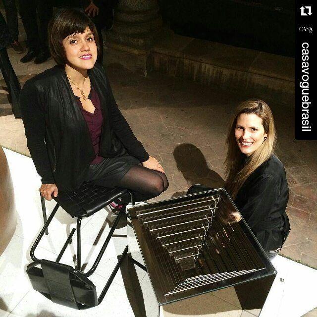 #Repost @casavoguebrasil with @repostapp  #casavogueemmilão - Designers e suas criações! Carol Gay (@carolgay) e seus bancos No ar de borracha reciclada da indústria de pneus e Roberta Rampazzo (@robertarampazzodesign) com a mesa Infinity um convite para irmos mais fundo dentro de nós mesmos! #casavogueemmilão #casavogueemmilão2016 #salonedelmobile #iSaloni #design #casavogue / Acompanhe a cobertura completa do Salão do Móvel de Milão 2016 em casavogue.com.br by vidrotec