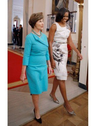 Everyone was saying Melania got her inspiration for that blue outfit from Jackie Kennedy...