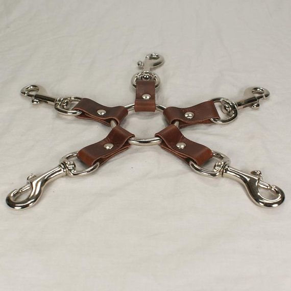 Brown Leather 5 Way Hog Tie