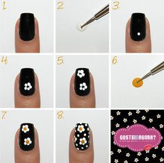 Tutorial: Unhas de Margarida