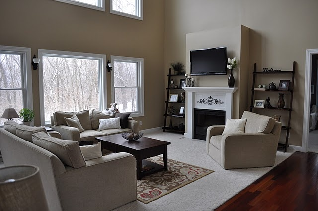 Love this whole room! Great idea for our family room