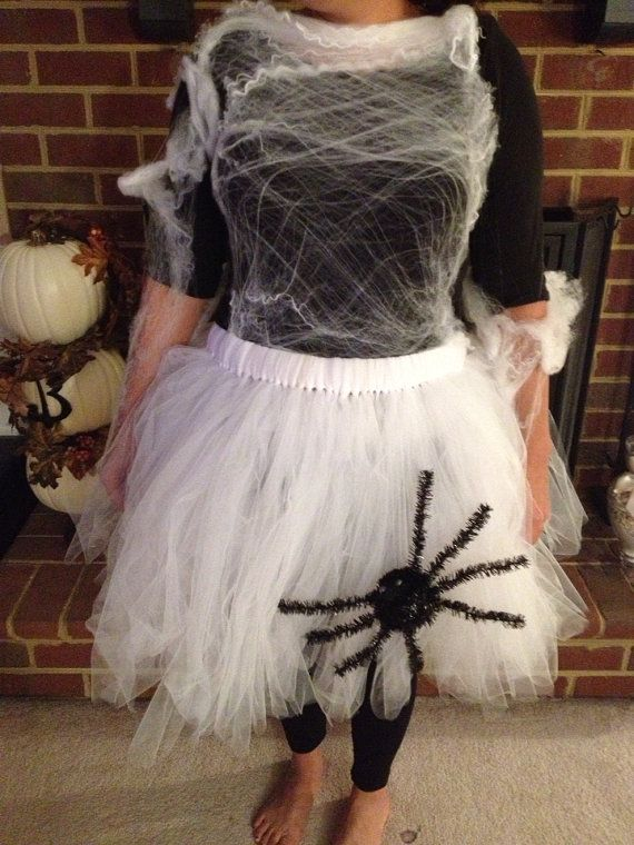 Halloween Adult Spider's Web with Spider Halloween Tutu Size 4-12. Over 100 yards of Tulle on Etsy, $46.00