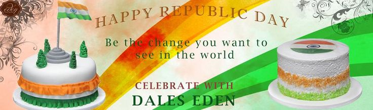 """BE THE CHANGE YOU WANT TO SEE IN WORLD"" #HAPPYREPUBLICDAY #CelebratewithDaleseden"